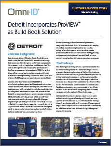 case study. Titled, Detroit incorporates ProVIEW as build book solution. a screen shot of the case study first page
