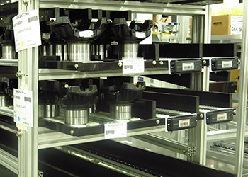 items on racks that can be tracked with the ProVIEW rfid system