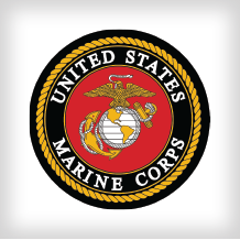 The USMC logo linking to a case study of Omni-ID RFID tags being put to use by the Marines