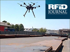 image of drone flying depicting Omni-ID's custom RFID solutions