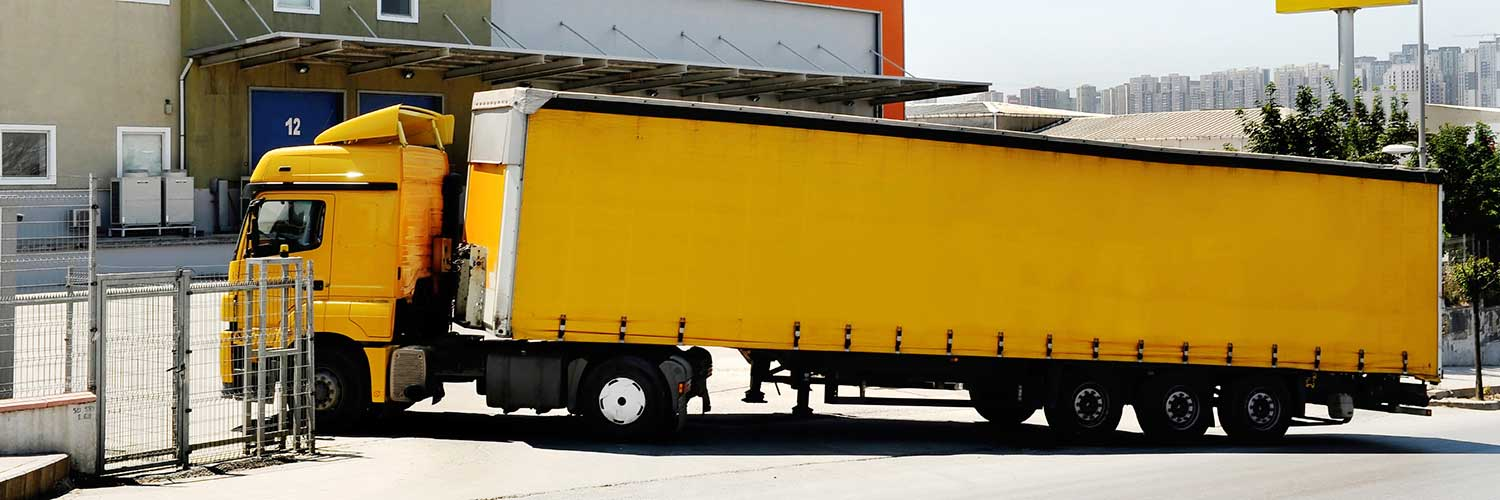 cargo truck with rfid tag